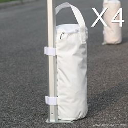ABCCANOPY Portable Canopy Weights Sand Bags Anchors – 4 Pack (white)