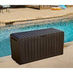 Keter Marvel 71 gal. Plus All-Weather Indoor/ Outdoor Brown Storage Deck Box