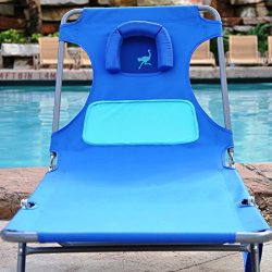 Ostrich Ladies Comfort Chaise Lounger – Blue with Custom Fit Towel