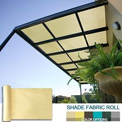 Coarbor 12Ft x 26Ft Shade Cloth Pergola Patio Cover Provide Shade Fabric Roll Customized Mesh Sc ...