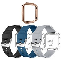 GreenInsync Fitbit Blaze Replacement Band, Fitbit Blaze Accessories Bands Adjustable Wristbands  ...