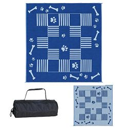 Ming's Mark DA3 Blue 9-Feet x 9-Feet Dog Paw/Bone Mat