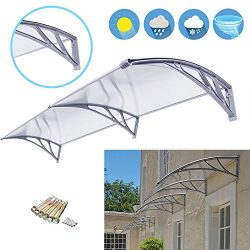 Super Deal 40″x 80″ Window Door Entry Awning Polycarbonate Cover Front Door Outdoor  ...