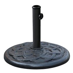 Elite Shade 16.5″ Umbrella Base Stand Market Patio Outdoor Heavy Duty Umbrella Holder, 21 lb