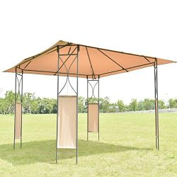 10'x10′ Square Gazebo Canopy Tent Shelter Awning Garden Patio