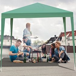TANGKULA Outdoor Tent 10'X10' EZ Pop Up Portable Lightweight Height Adjustable Study Instant All ...