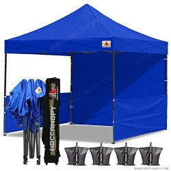 ABCCANOPY 10×10 RHINO-series EASY Pop Up Canopy Tent Commmercial Grade with Matching Sidewa ...