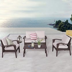 Diensday Patio Outdoor Furniture|Sectional Chair Sofa Conversation Sets Clearance Deep Seating C ...