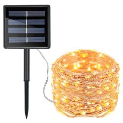 Moreplus Solar String Lights 72ft 200 LED Copper Wire Lights Indoor/Outdoor IP65 Waterproof 8 Mo ...