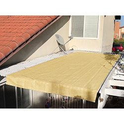 Alion Home Pergola Shade Cover Sunblock Patio Canopy HDPE Permeable Cloth with Grommets (12&#824 ...