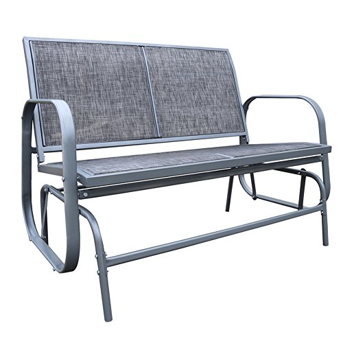 Le Papillon Outdoor Glider Bench 2 Person Loveseat Chair