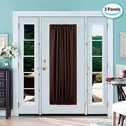 Deconovo French Door Panel Shade Blackout Thermal Curtains for Patio Door Blackout Panel 54× ...