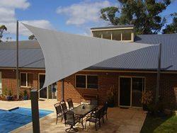 Coconut Heavy Duty Triangle Sun Shade Sail, UV Block Canopy Shelter for Outdoor Patio Garden Dec ...