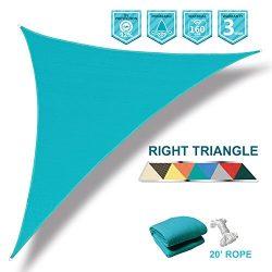 Coarbor 12'x12'x17′ Right Triangle Light Green UV Block Sun Shade Canopy Perfe ...
