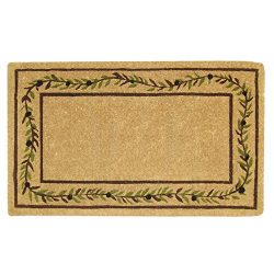 Nedia O2227 Not Applicable Heavy Duty 22″ x 36″ Coco Mat Olive Branch Border, Plain