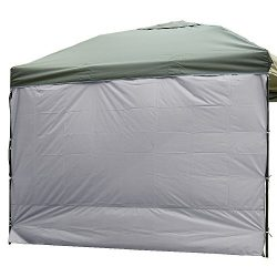 NINAT Side Sunshade Privacy Panel Wall for 10 ft Gazebos Canopy Tent Waterproof, Grey