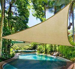 DLZY COOL Shade Sail porch shades knitting Sun Shade Sail garden sails 13′ 13′ 13&#8 ...