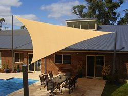 Heavy Duty Triangle Sun Shade Sail, UV Block Canopy Shelter for Outdoor Patio Garden Deck Backya ...