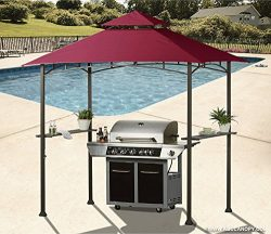 ABCCANOPY 8′ X 5′ Grill Shelter Replacement Canopy roof for Model L-GZ238PST-11 (Bur ...