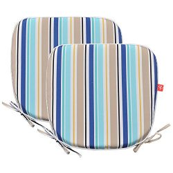 PacifiCasual Indoor/Outdoor Chair Pads Seat Garden Home Patio Chair Cushions (Blue 3)