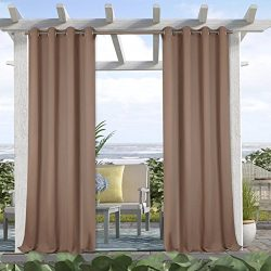 Blackout Outdoor Curtains for Patio – Indoor Outdoor Curtains Waterproof Outdoor Curtains  ...