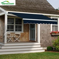 Diensweek Patio Awning Retractable Manual Commercial Grade – Quality 100% 280G Ployester W ...
