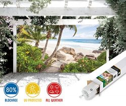 Stairs to Paradise Beach Patio & Gazebo Backdrop Screen (10-ft x 6-ft)