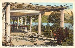 Shokan New York Watson Hollow Inn Pergola Porch Antique Postcard K61460