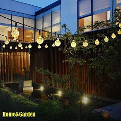 Nesix Solar String Lights with Clear Bulbs, Solar Powered 30 LED String Lights, Hanging Indoor/O ...