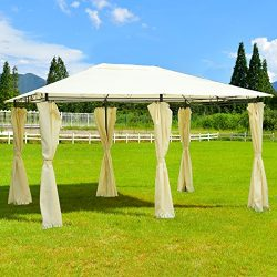 TANGKULA 13'x 10' Gazebo Canopy Shelter Outdoor Garden Patio Party Tent Outdoor Awning W/Side Walls