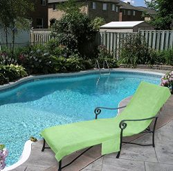 Pool Side 1000-Gram Chaise Cover, Pool lounge Chair Cover, Lawn Chair Cover, Patio Chair Cover w ...