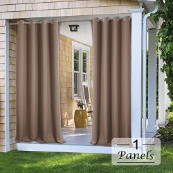 PONY DANCE Patio Curtains Outdoor – Stain Repellant Blackout Shades Drapery Thermal Insula ...