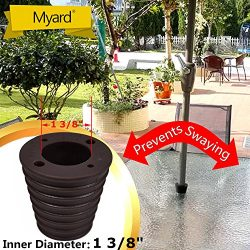 MYARD Umbrella Cone Wedge Spacer for Patio Table Hole Opening 1.8 to 2.4 Inch, Umbrella Pole Dia ...