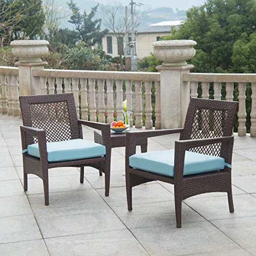 AURO Brisbane Outdoor Furniture | 3 Piece Rattan Patio Set ...