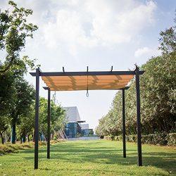 Kinbor 10' x 10' Grill Gazebo Pergola Outdoor Party BBQ Heavy Duty Weights Canopy Grape Trellis  ...