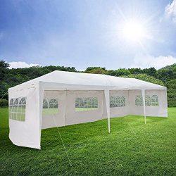Mefeir 10'x30' Canopy Gazebo party wedding Tent with 5 Removable Panels Sidewalls, Sturdy Upgrad ...