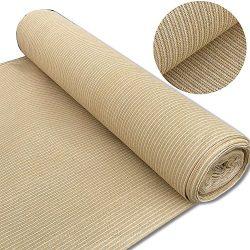 Alion Home 180 GSM Sunblock Shade Fabric Roll, 95% UV Block Breathable Mesh for Patio, Pergola,  ...