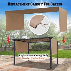 BenefitUSA G260 Universal Replacement Canopy Top Cover for Pergola Structure (18′ L x 8.3& ...