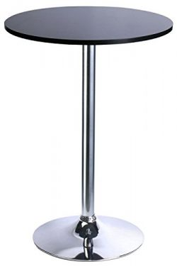Leopard Round Top Not Adjustable(41 INCHES Height) Bar Table,Pub Table With Silver Leg and Base, ...