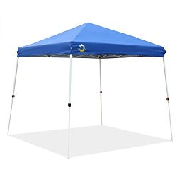 CROWN SHADES Patented 10ft x 10ft Base 8ft x 8ft Top Slant Leg Outdoor Pop up Portable Shade Ins ...