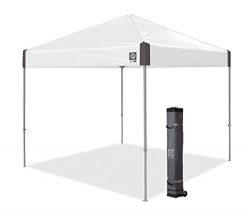 E-Z UP Ambassador Instant Shelter Canopy, 10 by 10′, White Slate