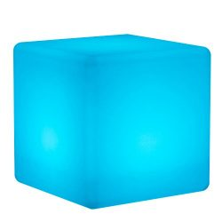 Mr.Go 14-inch 35cm Rechargeable LED Color Cube Light With Remote Control Magic RGB Color Changin ...