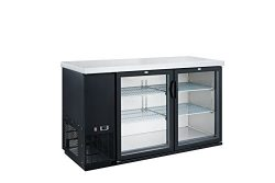 Dukers DBB48-H2 11.2 cu. ft. 2-Door Bar and Beverage Cooler