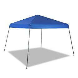 PHI VILLA 12′ x 12′ Slant Leg Pop-up Canopy, 81 Sq. Ft of Shade, Instant Folding Can ...