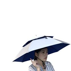 Umbrella Hat, Sttech1 Novelty Double Layer Sun Hat Golf Fishing Camping Fancy Dress Folding Head ...