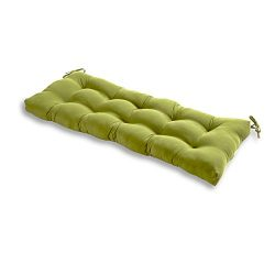 Greendale Home Fashions Indoor/Outdoor Bench Cushion, Summerside Green, 51-Inch