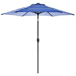 Abba Patio 9-Feet Patio Umbrella Outdoor Table Market Umbrella with Push Button Tilt and Crank,  ...