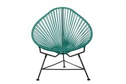 Innit Designs Baby Acapulco Chair, Turquoise Weave on Black Frame