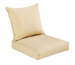 Bossima Indoor/Outdoor Light Yellow/Cream Deep Seat Chair Cushion Set Spring/Summer Seasonal Rep ...