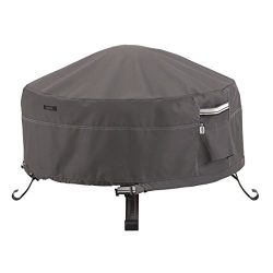 Classic Accessories Ravenna Full Coverage Round Fire Pit Cover – Premium Outdoor Cover wit ...